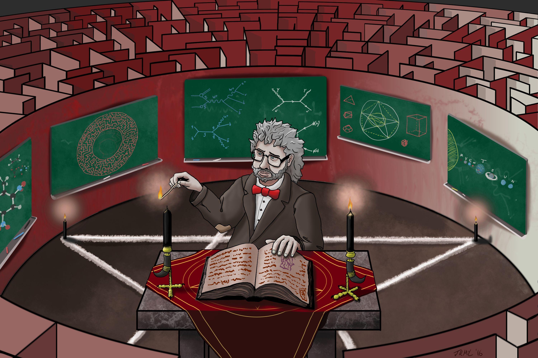 Professor in a maze