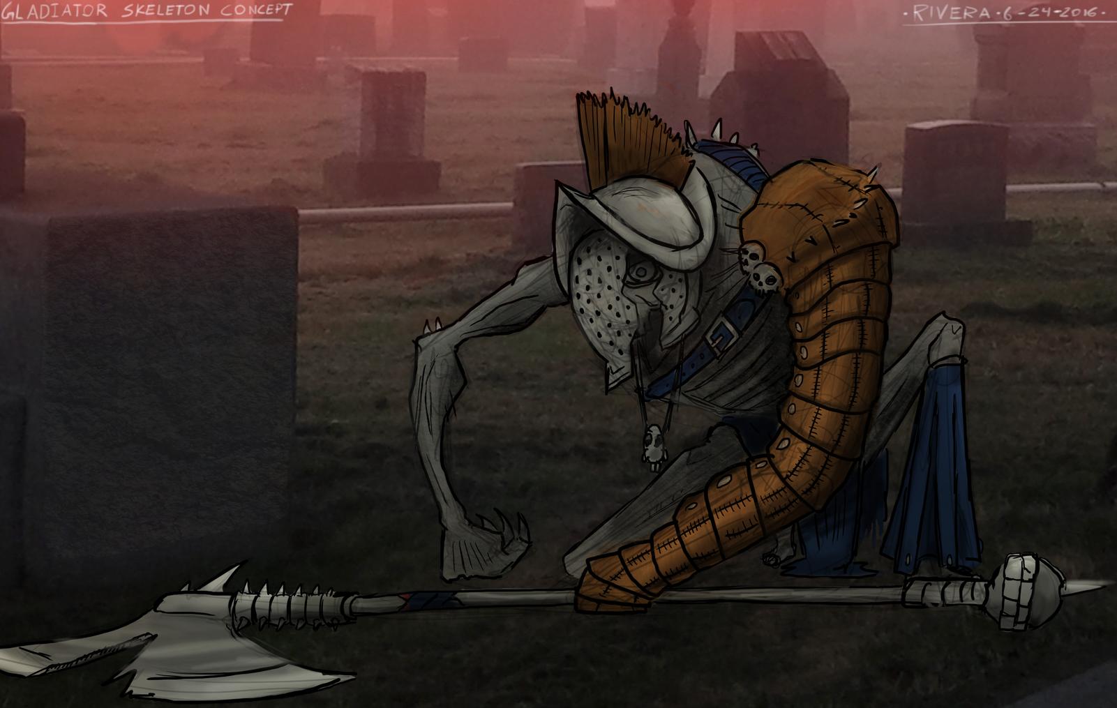 Skeleton Gladiator concept