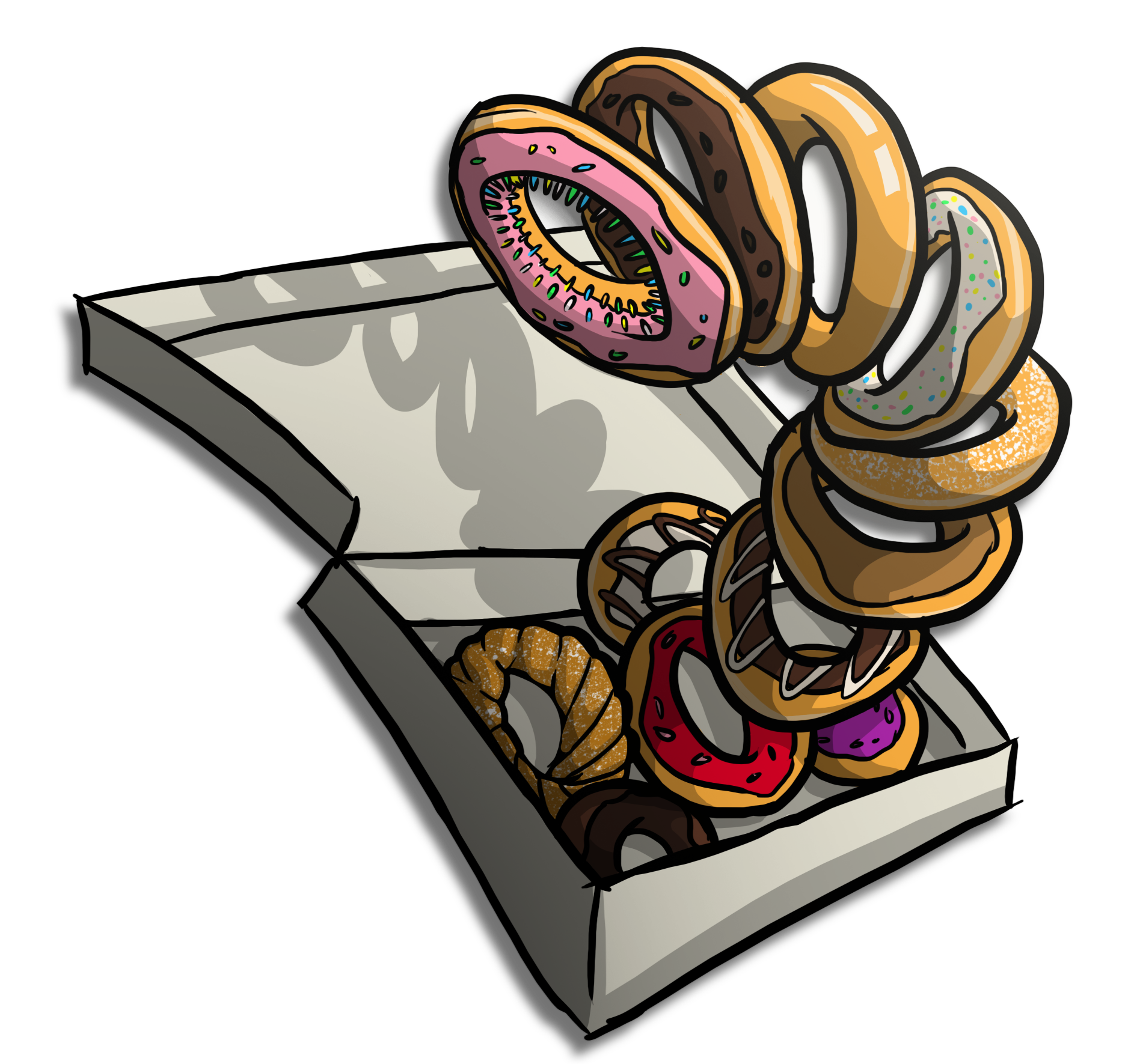 Character Design Day Challenge : Character design challenge day the doughnut worm by