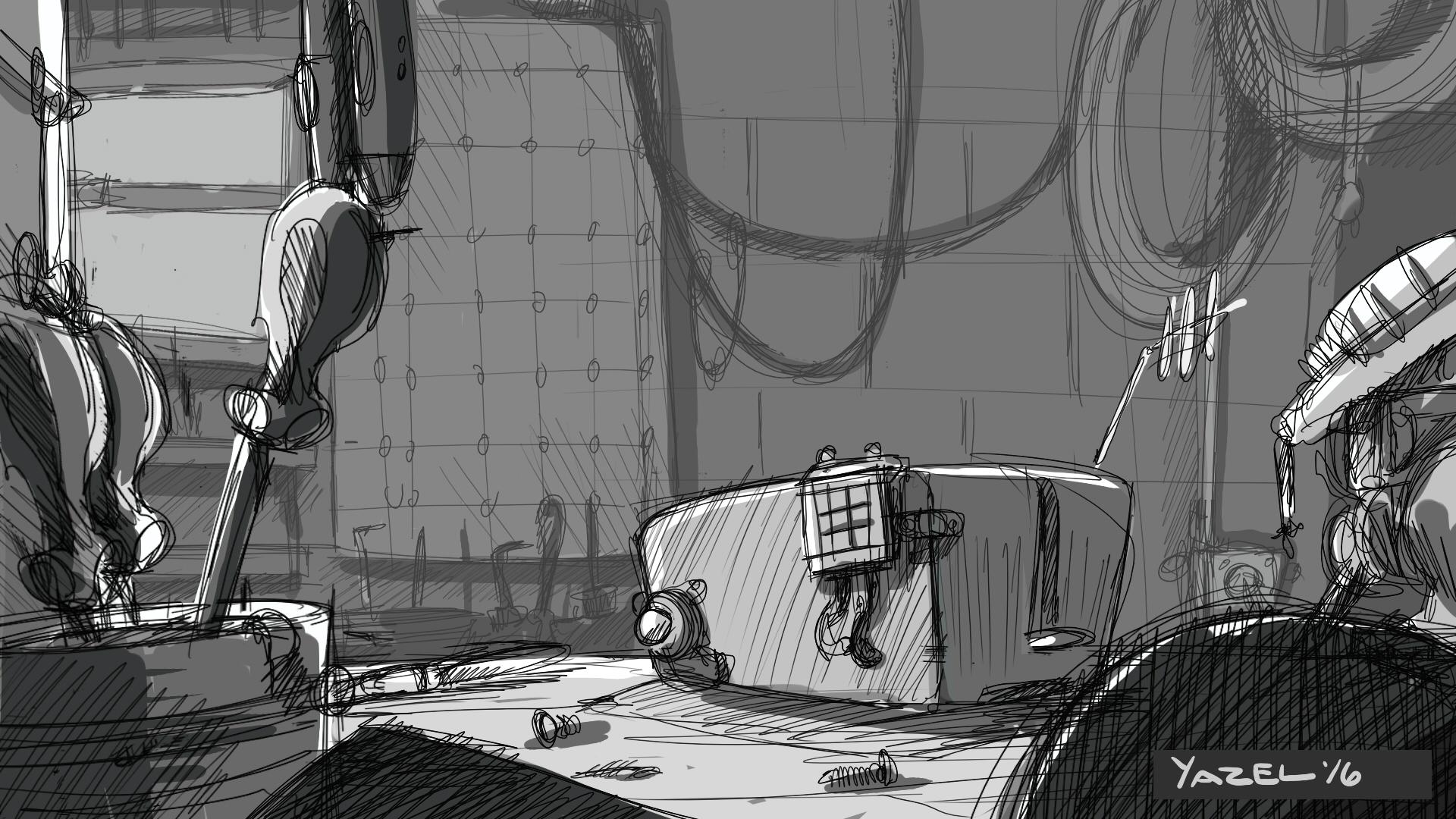 Garage sketch