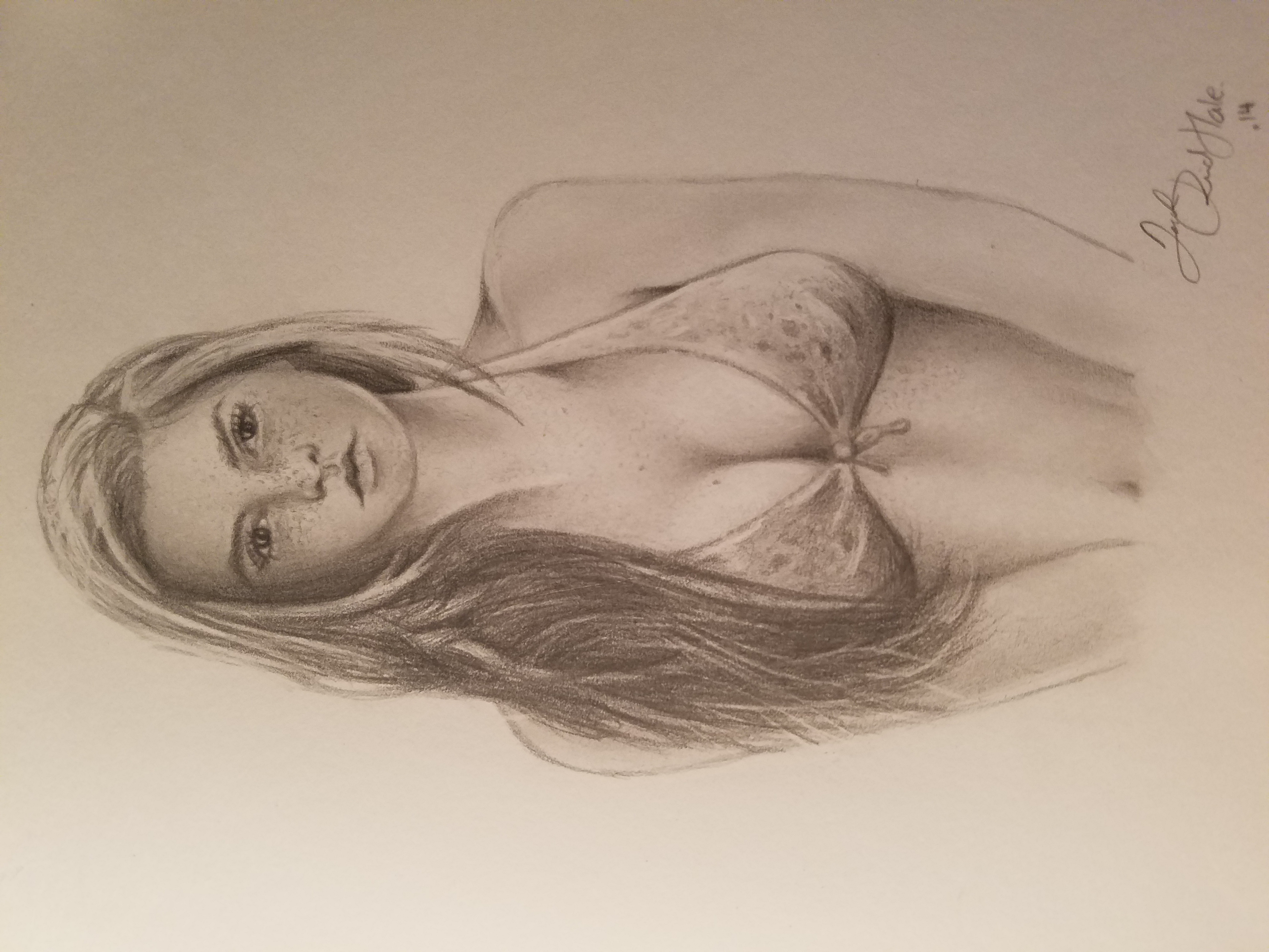 Srry bout the sideways thumbnail couldnt figure that out hope you like my pencil drawing of this girl