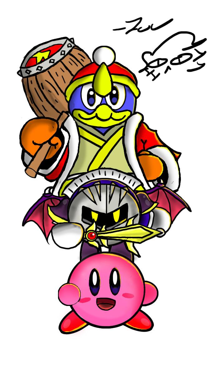 Kirby Meta Knight and Kind Dedede
