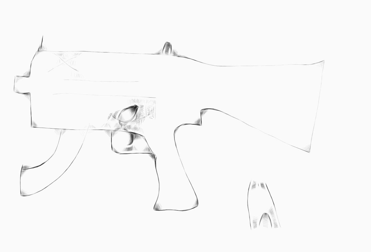 a gun i drew on mr doob.com