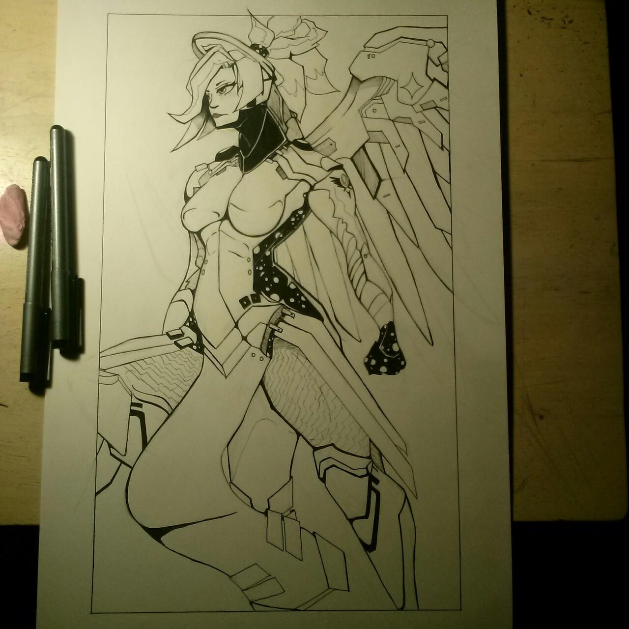 Mercy (Lineart/Inks)