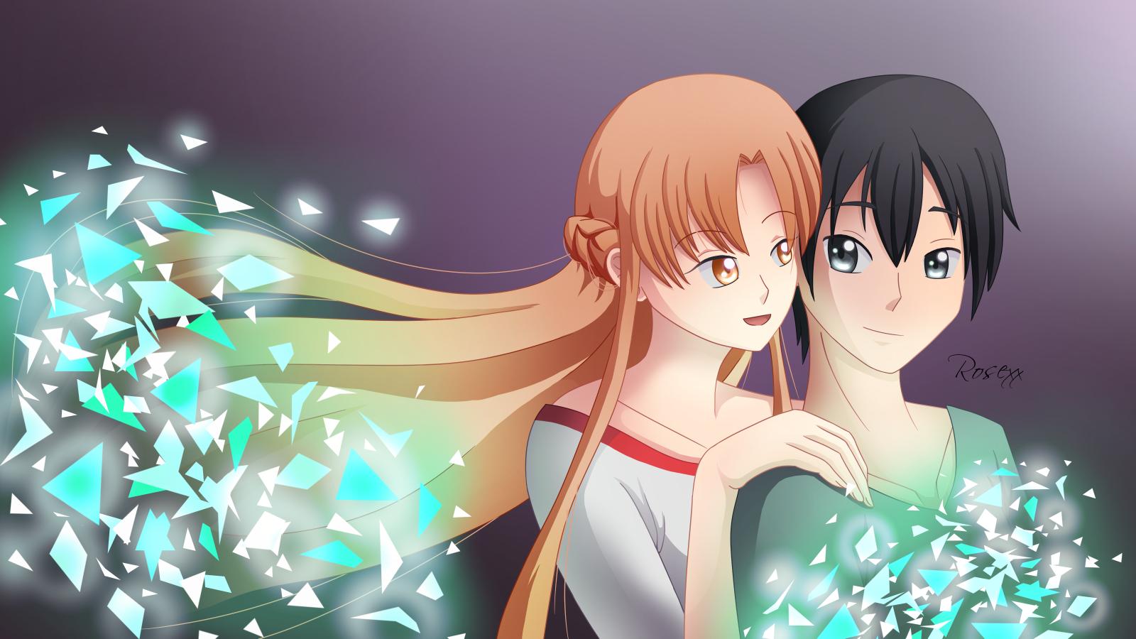 Sword Art Online-Asuna and Kirito