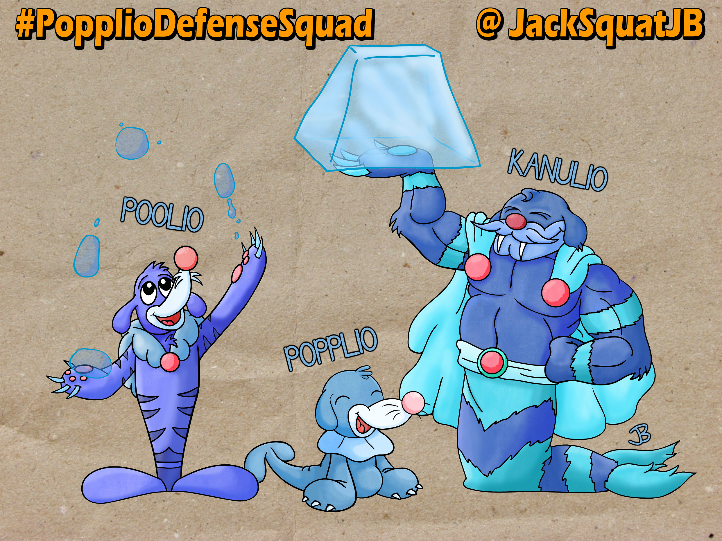 Popplio Fakemon Evolutions