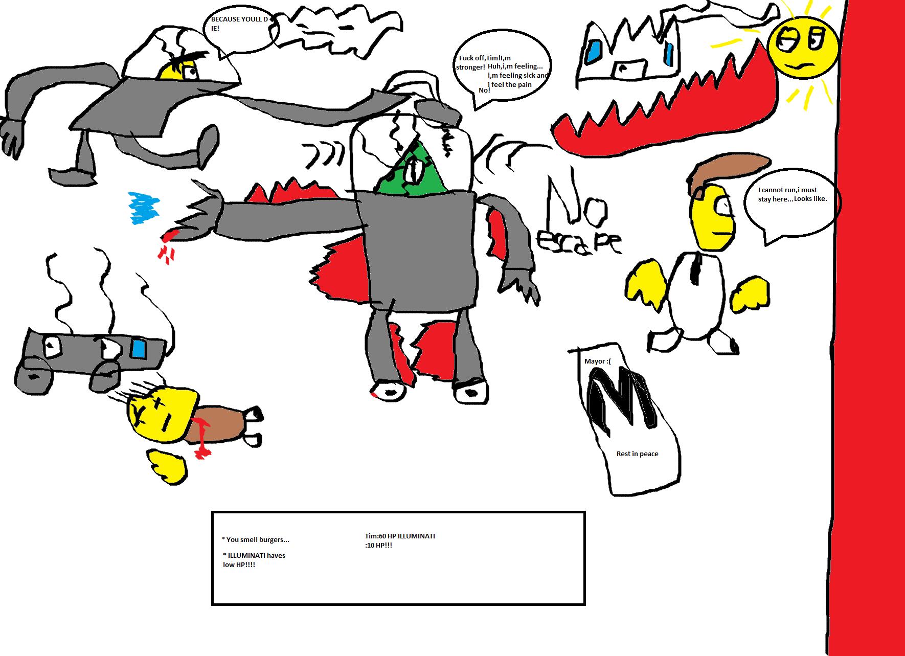 Tim vs ILLUMINATI Robot fight