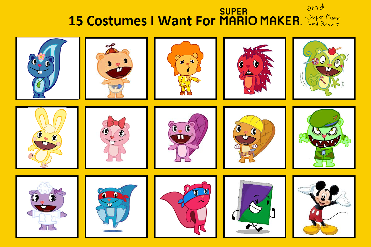 15 Costumes I want for Super Mario Maker and SMLR by Rosie1991 on