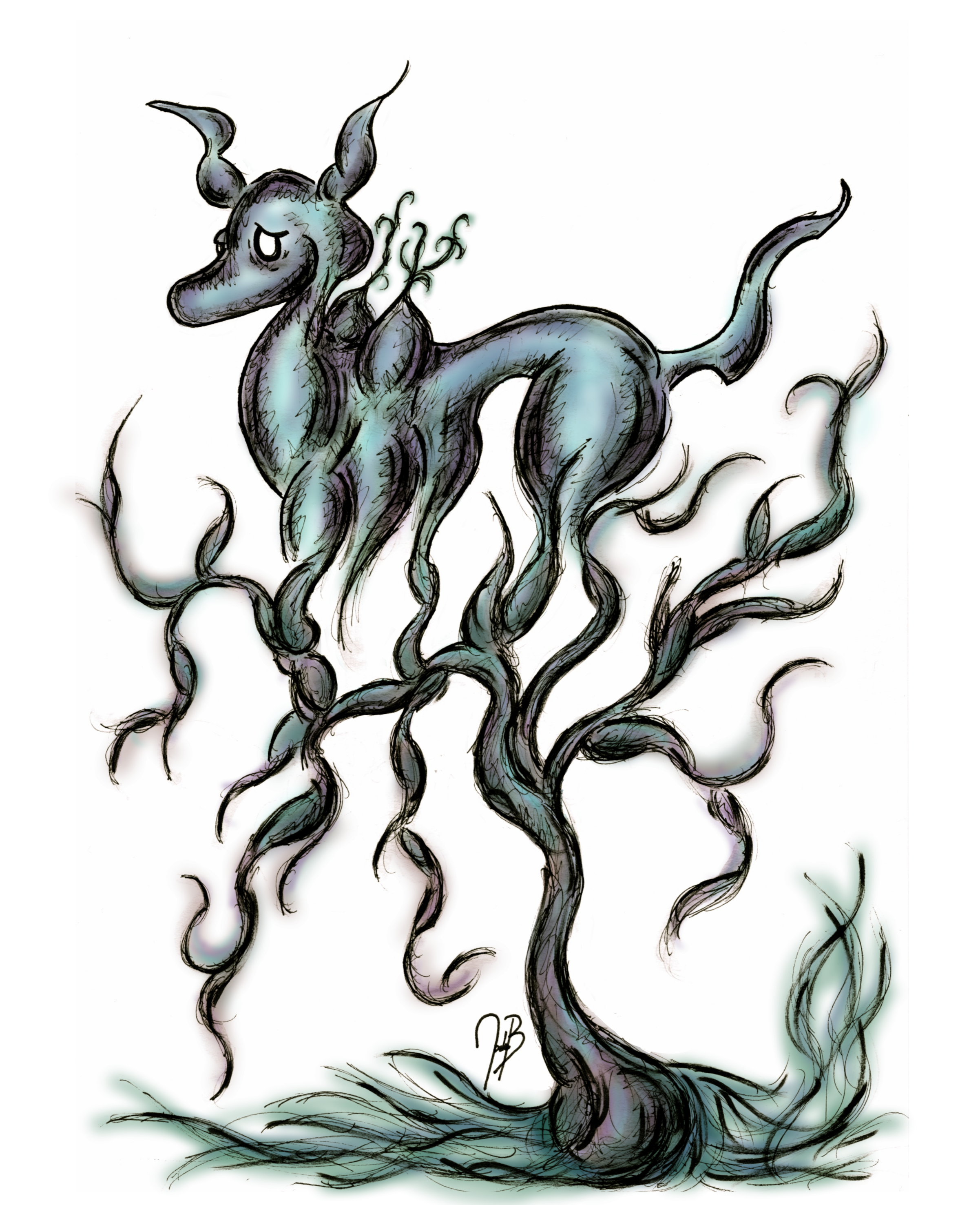 The Deer Tree (colored)