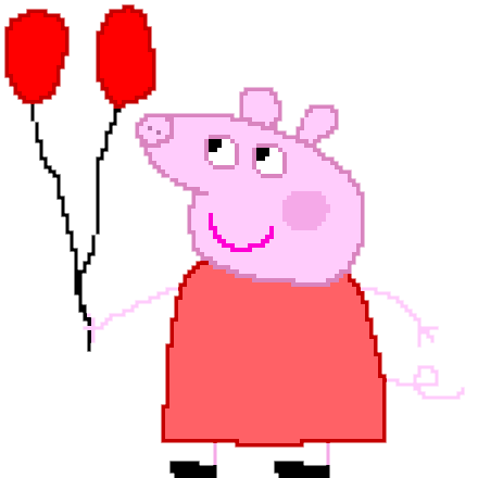 Peppa Pig with Baloons