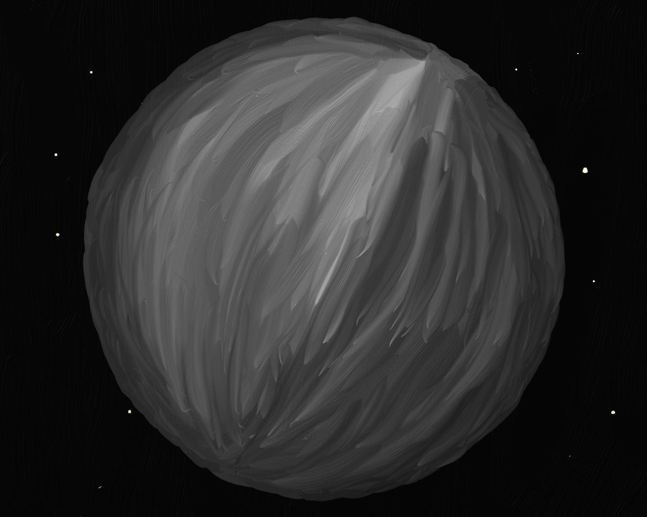 Mercury, an oil painting