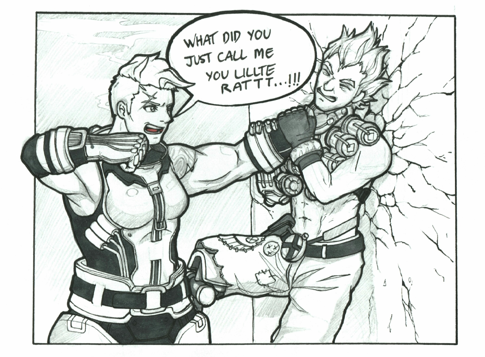 Zarya and Junkrat first met!