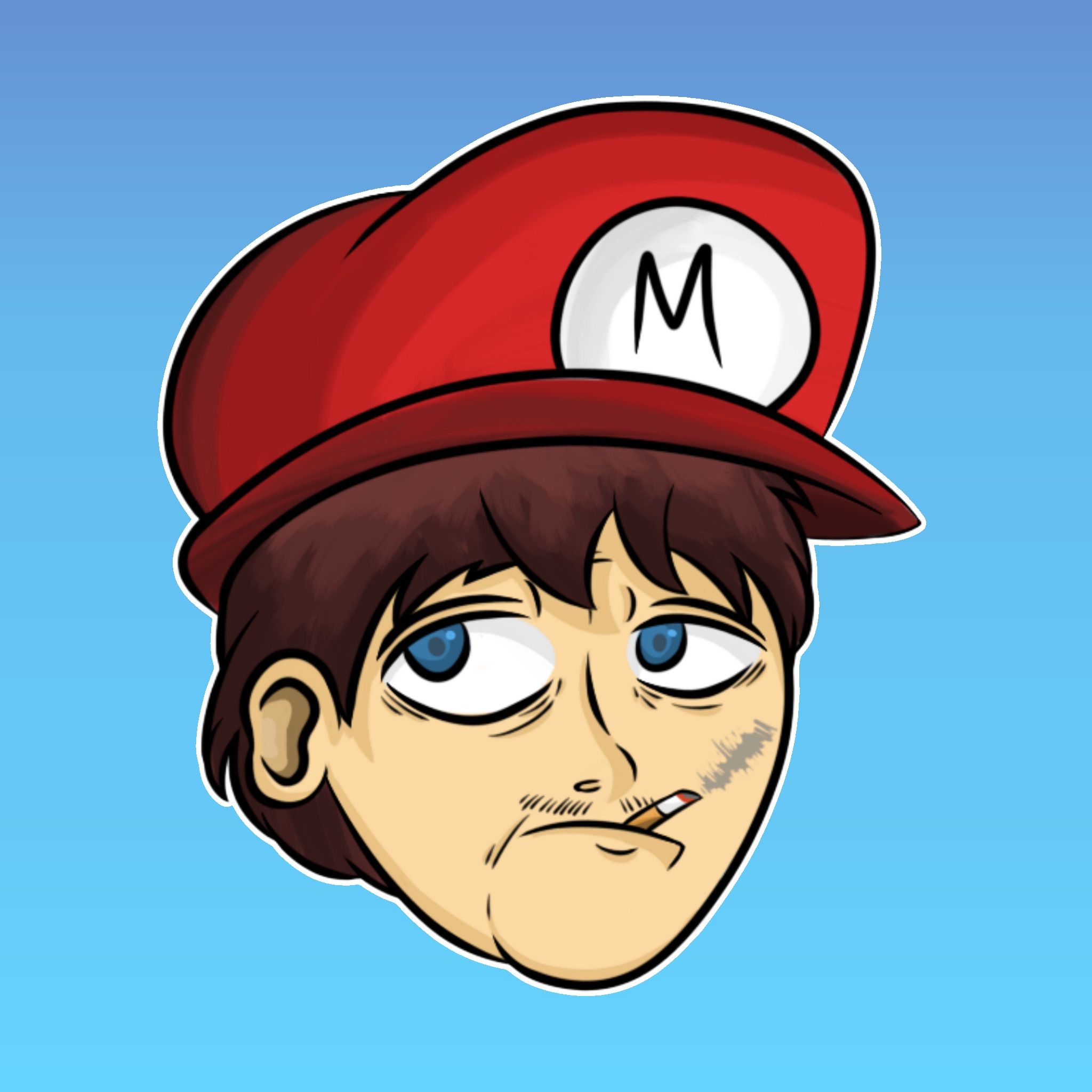 Thug Mario [Drawing] - 2/14/16
