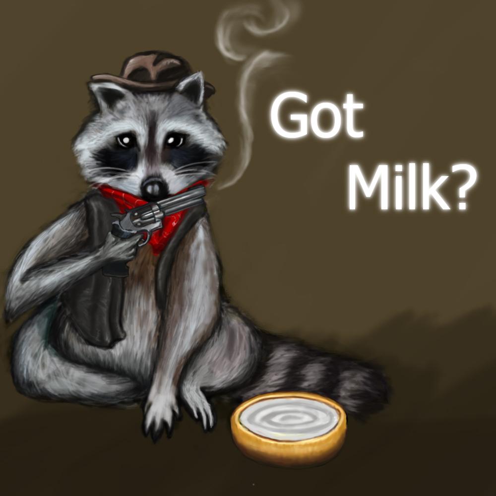 Cowboy Racoon - Got Milk?