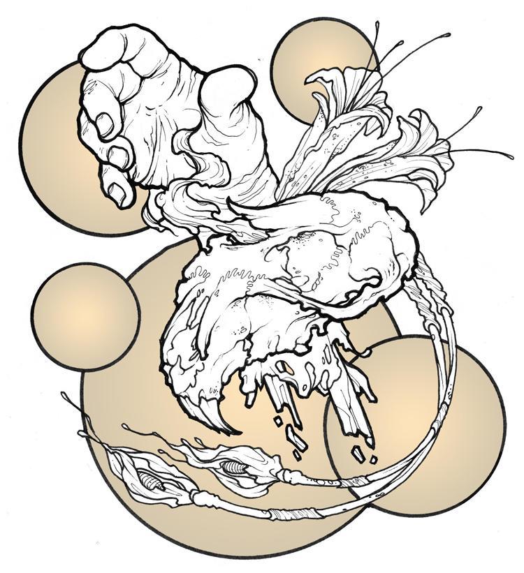 gopher skull, severed hand, fl