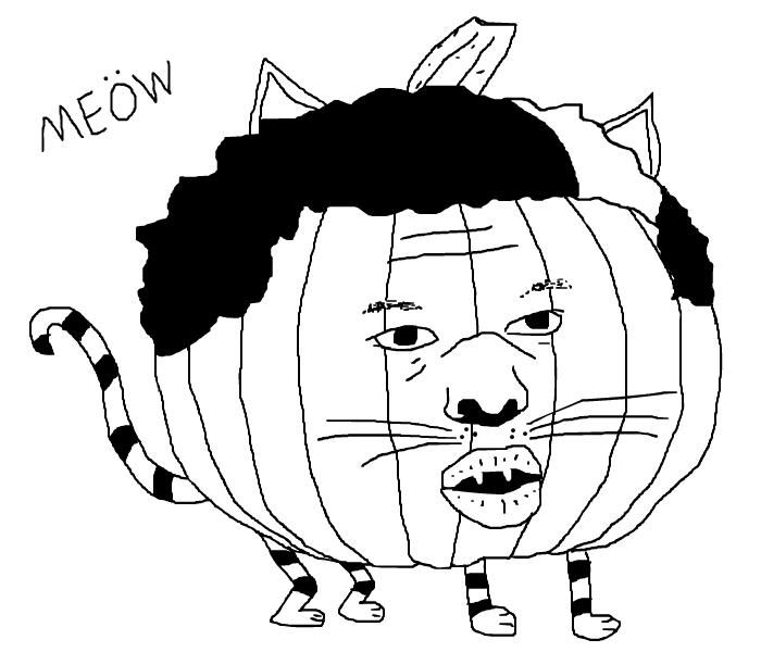 Dennis Schroder Pumpkin Cat