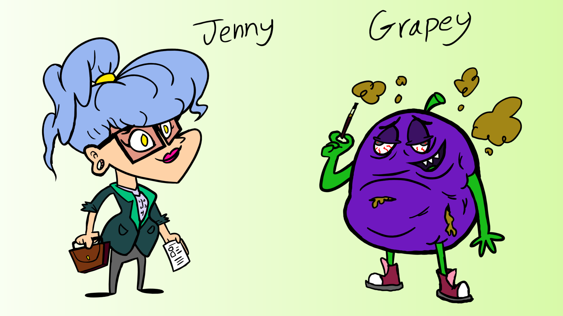 ACME Elixirs - Character Designs - Part 6 (Jenny & Grapey)