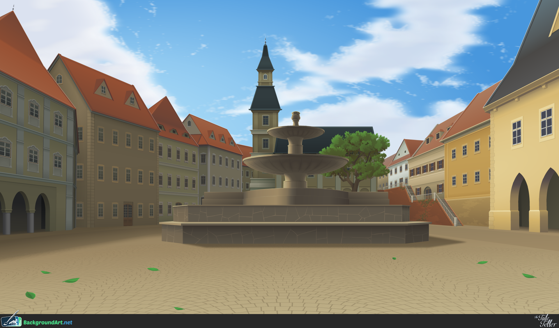 Summer Town Square - The Tale Teller