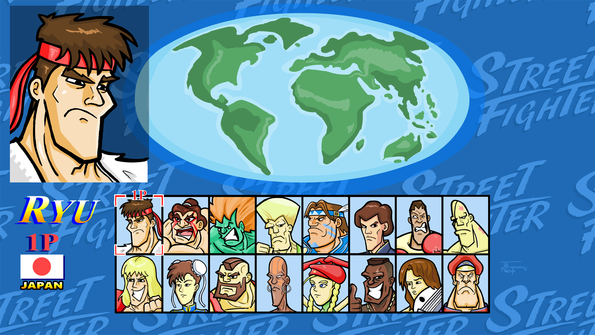 Super Street Fighter 2 Turbo Selection Screen By Superjeffoman On