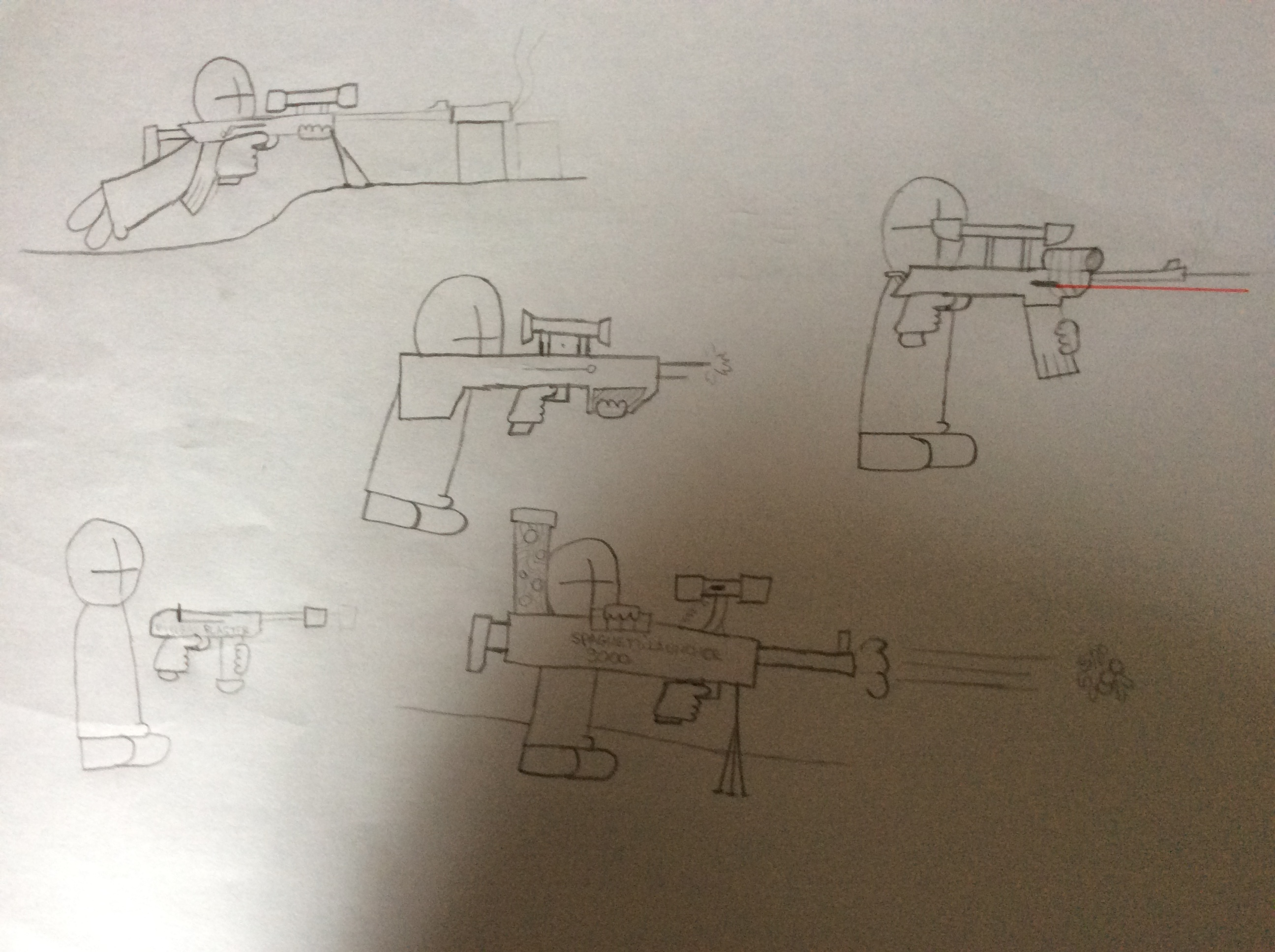 Weapons concept Art