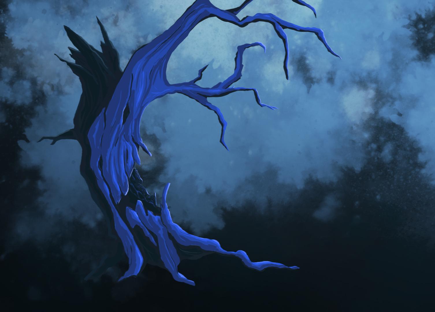 Old Blue Tree