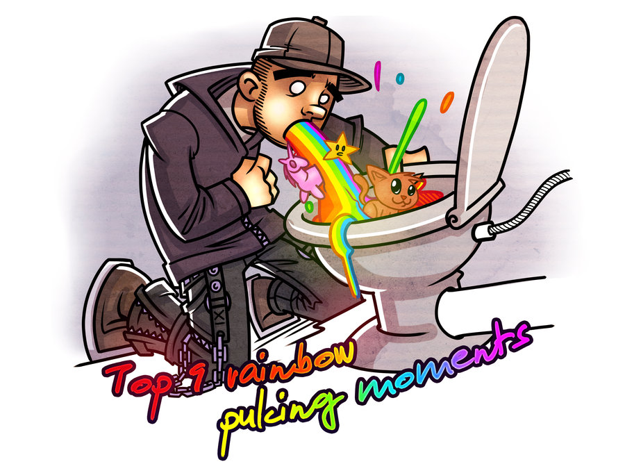 Me puking a rainbow