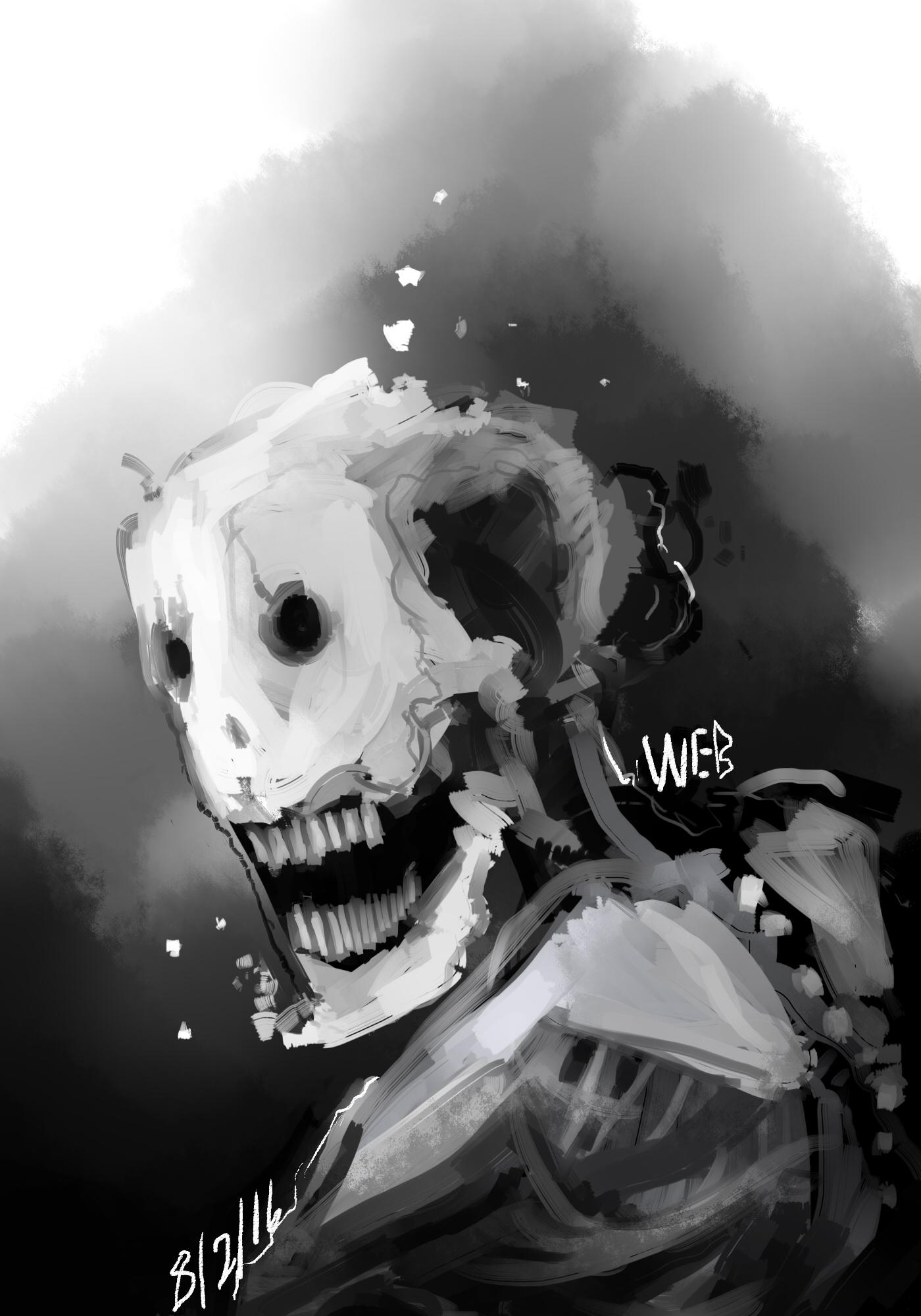 A spooky robot