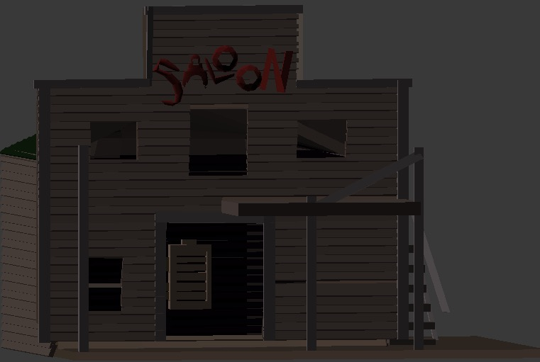 OldWest Ghost 3d building 2