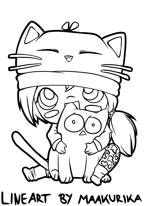 .:Scared Kitten:. |Lineart|