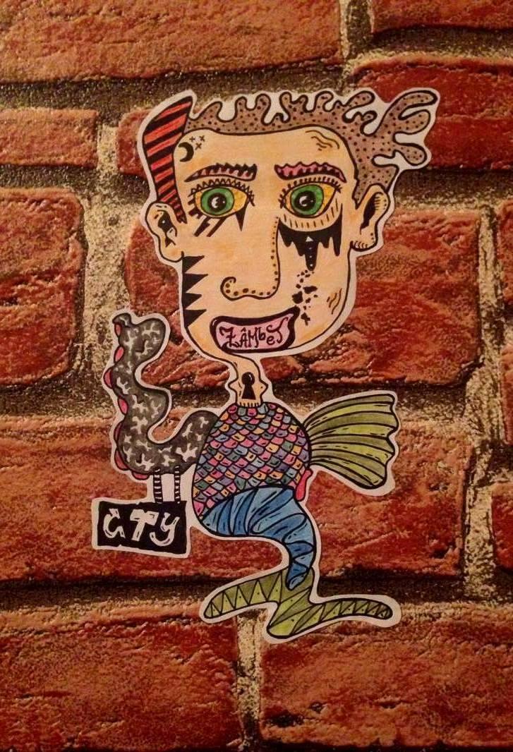 A self-portrait sticker