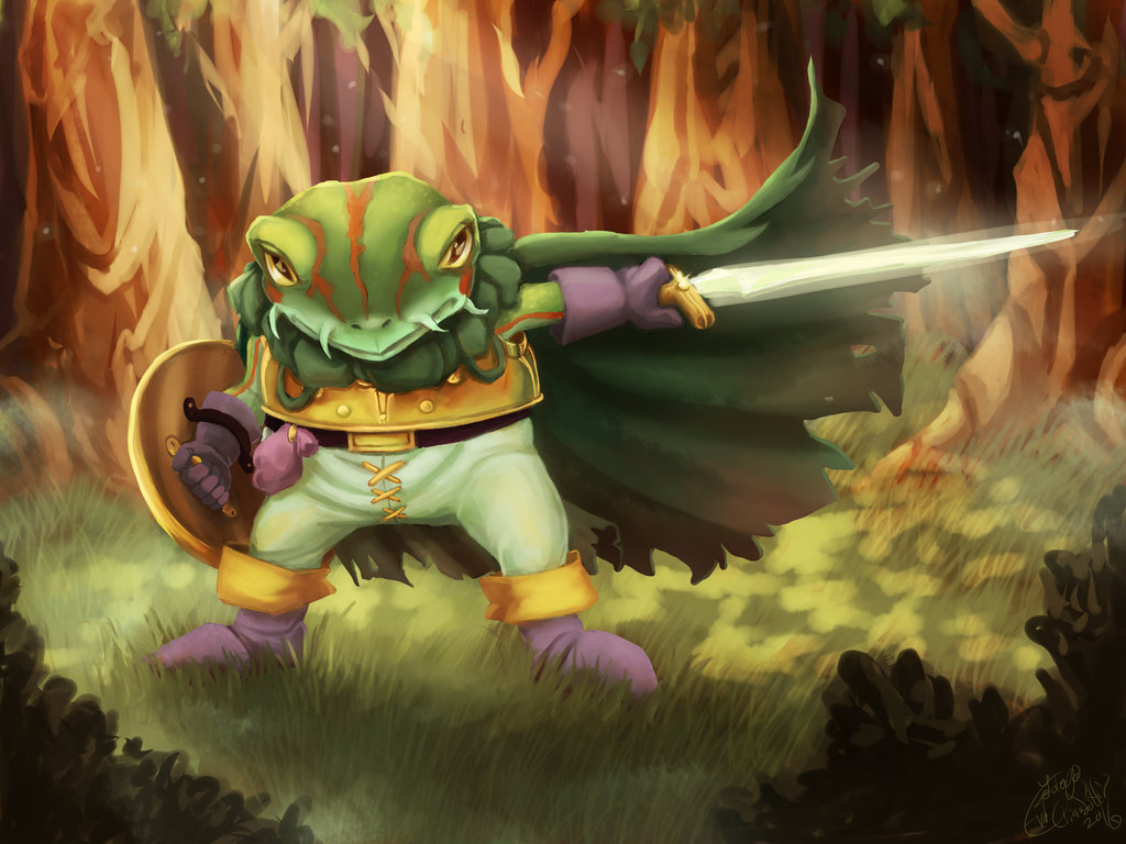 Such heroic frog knight