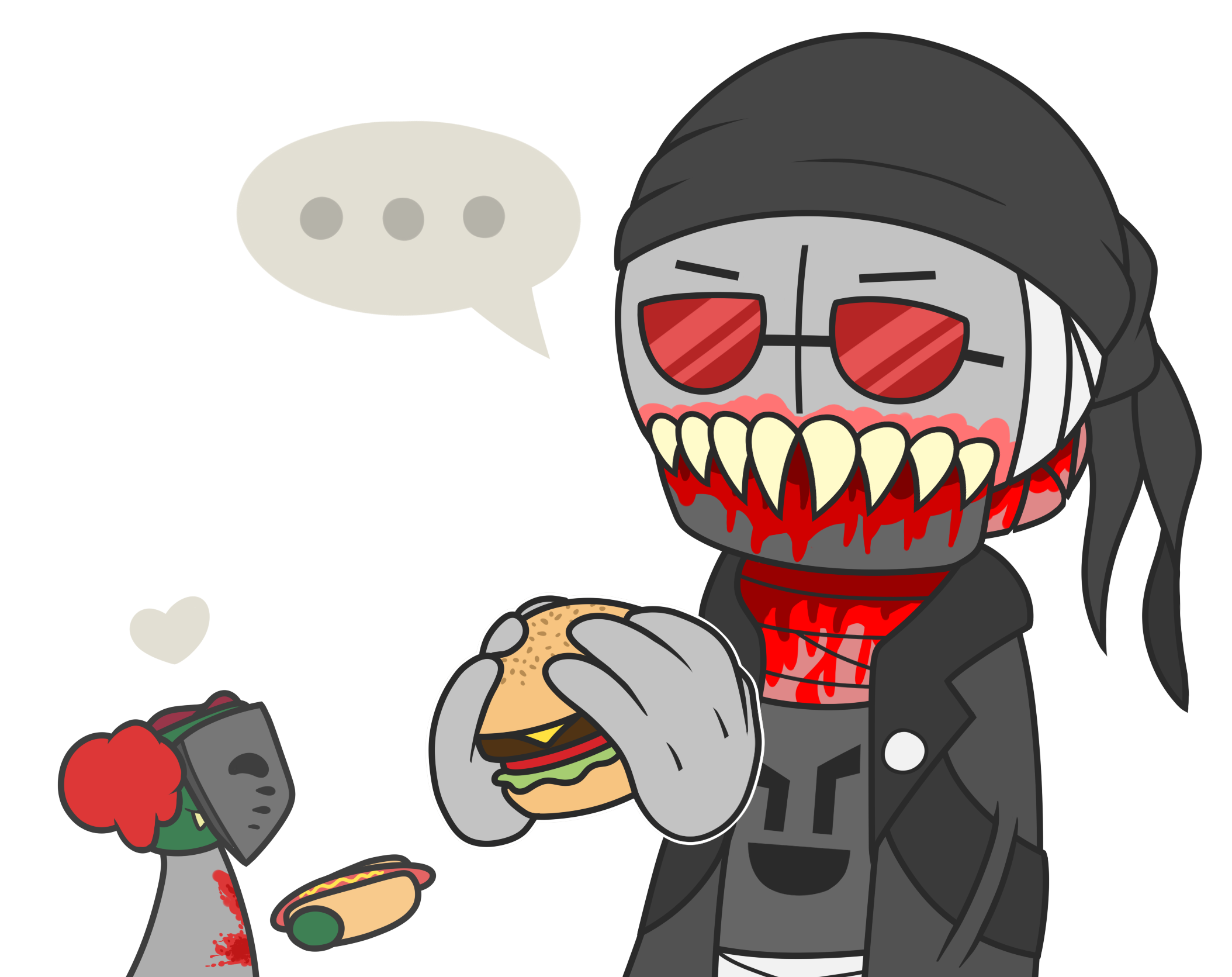 i give you a hamburger