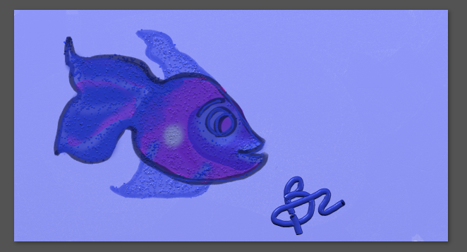 Fish drawn with wacom tablet