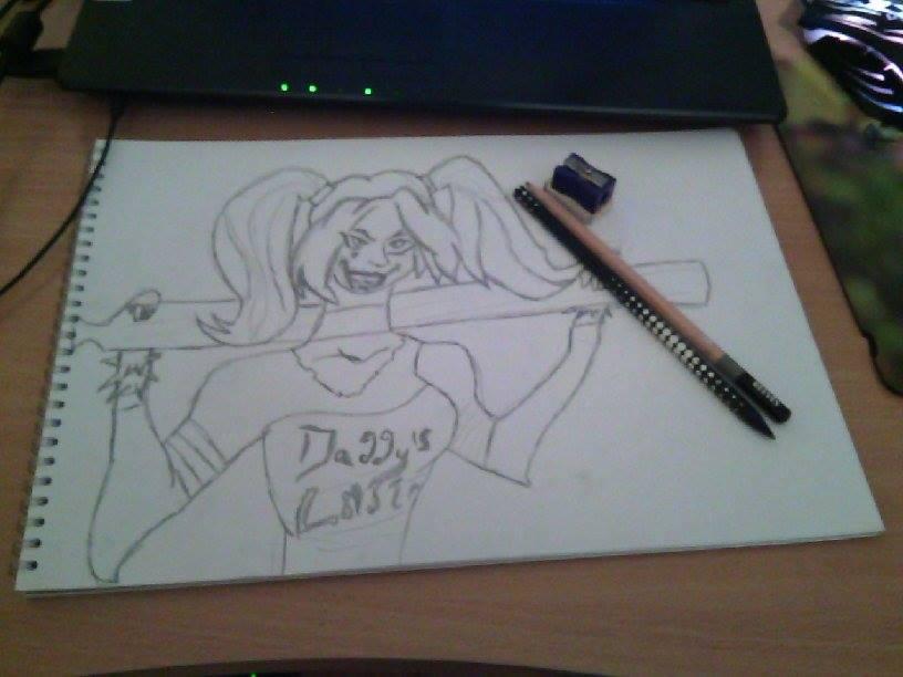 Very bad drawn Harley Quinn