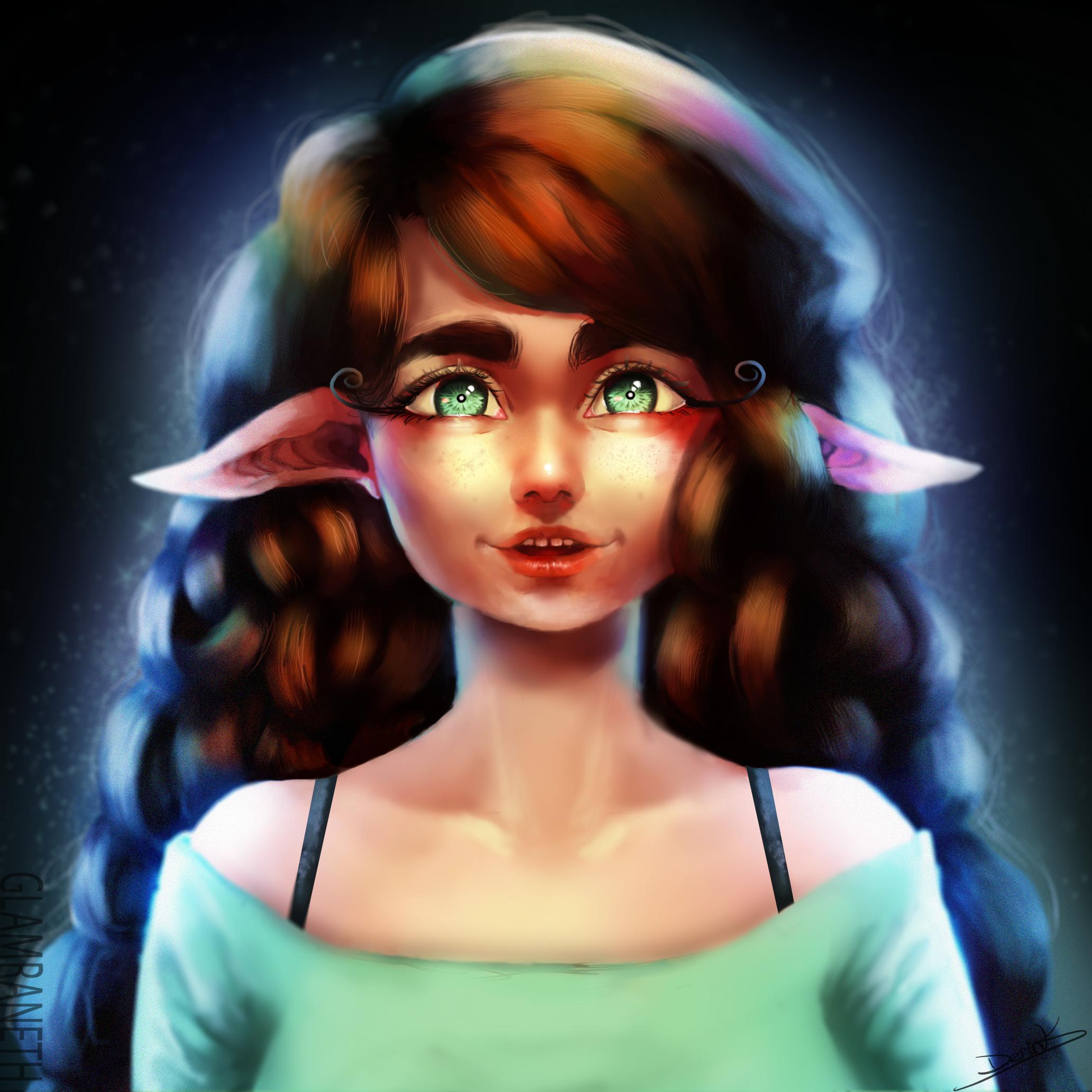 Happy Elf (Photoshop Practice)