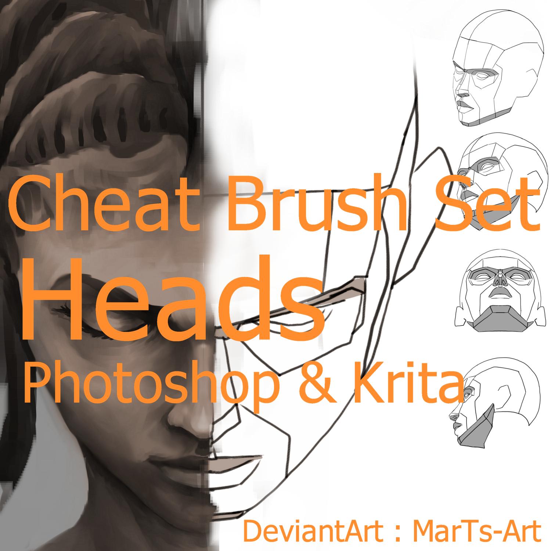 Krita|Photoshop| Heads | Cheat Brushes