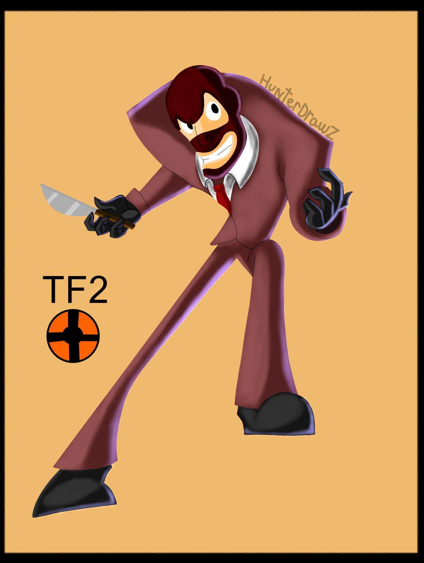 TF2 spy fan art
