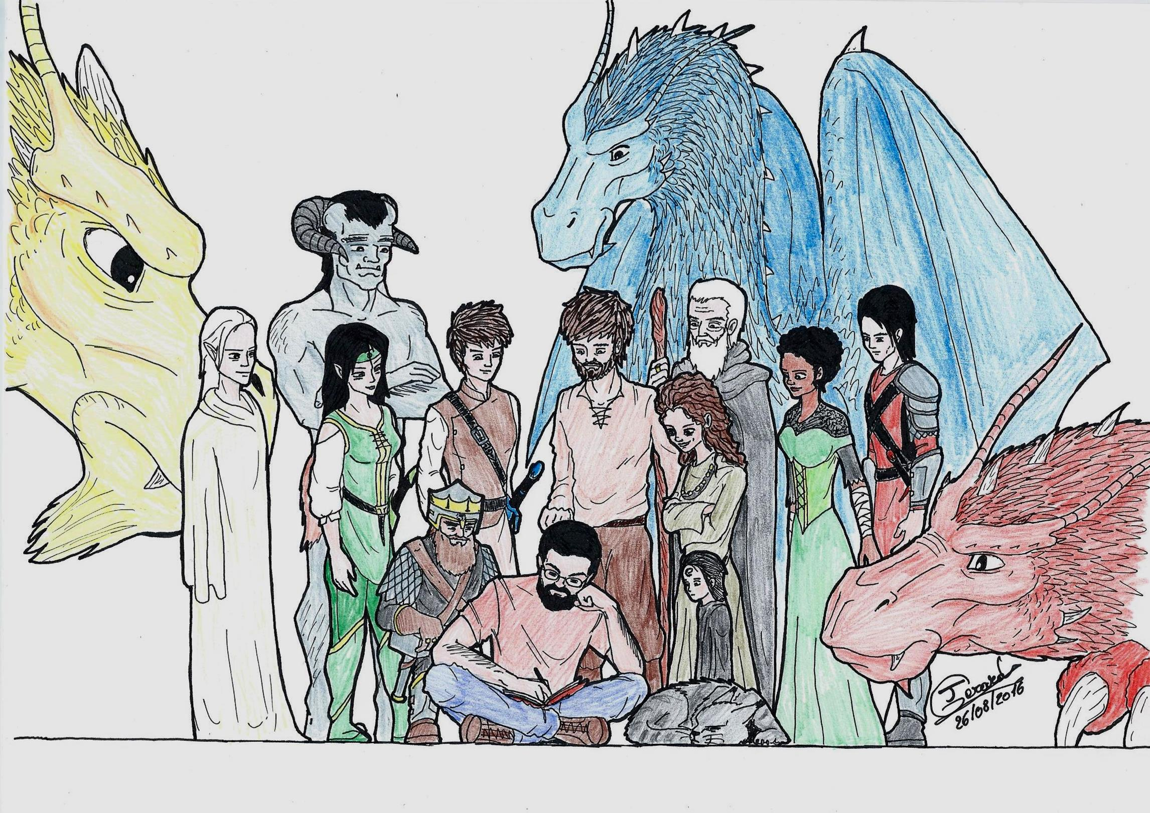 christopher paolini and characters of the inheritance cycle
