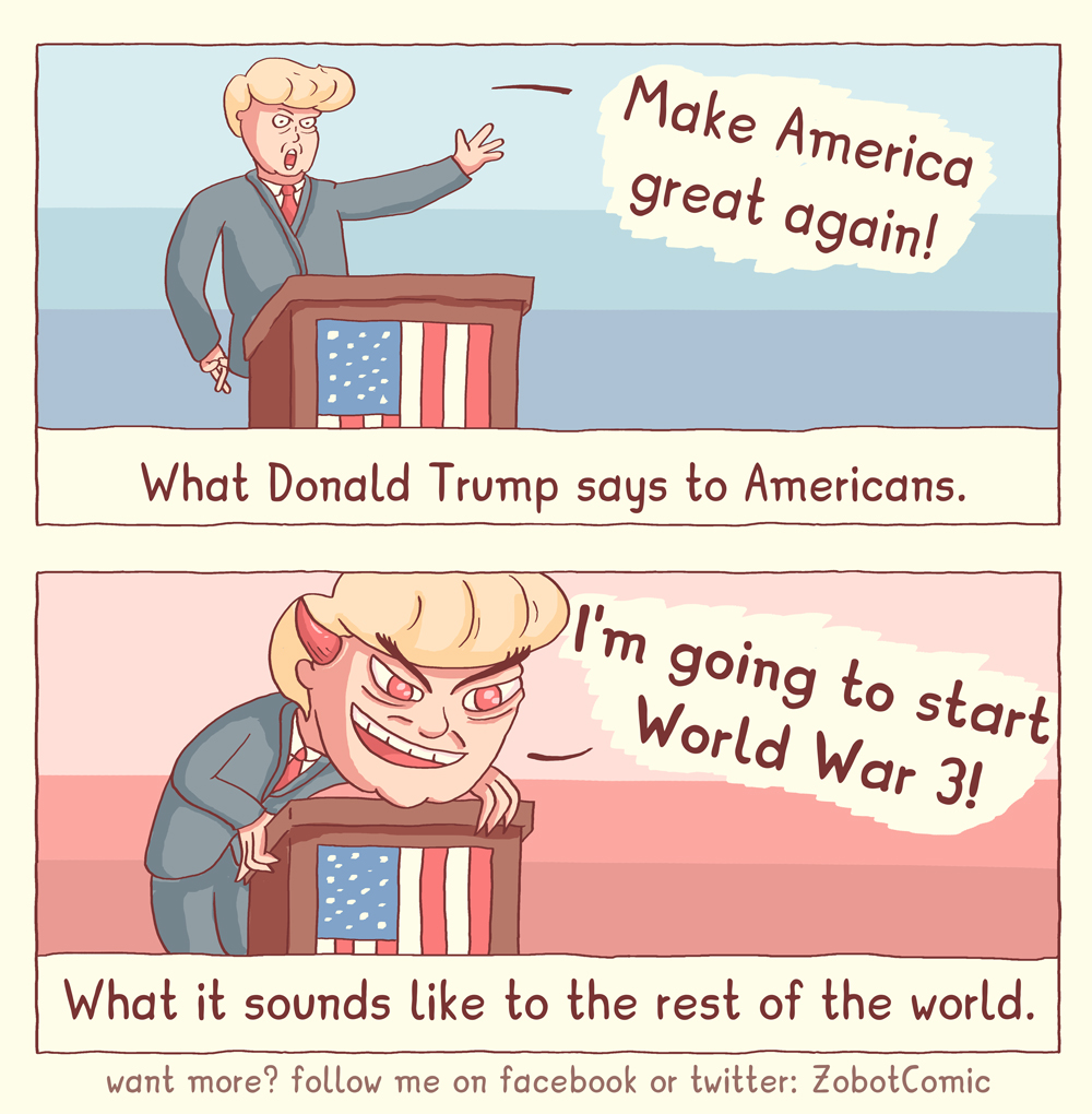 What Trump sounds like.