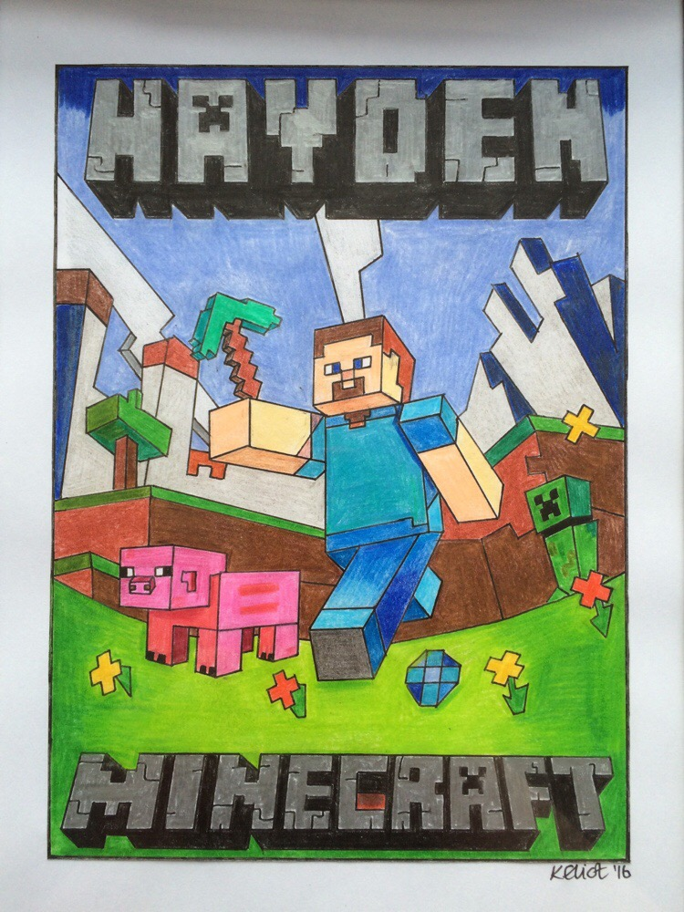 MineCraft poster for a friend's son