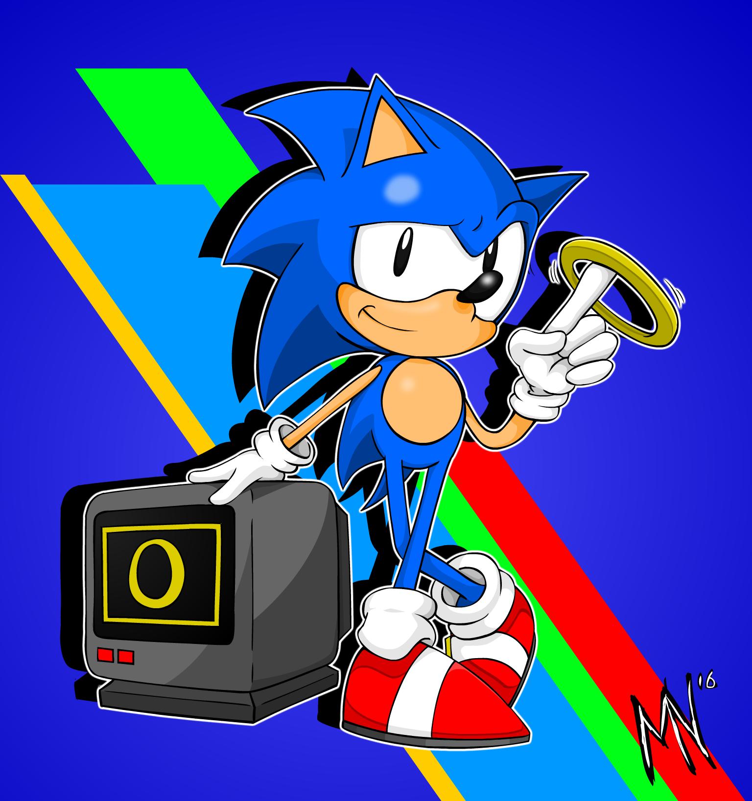 Simple Classic Sonic Illustration
