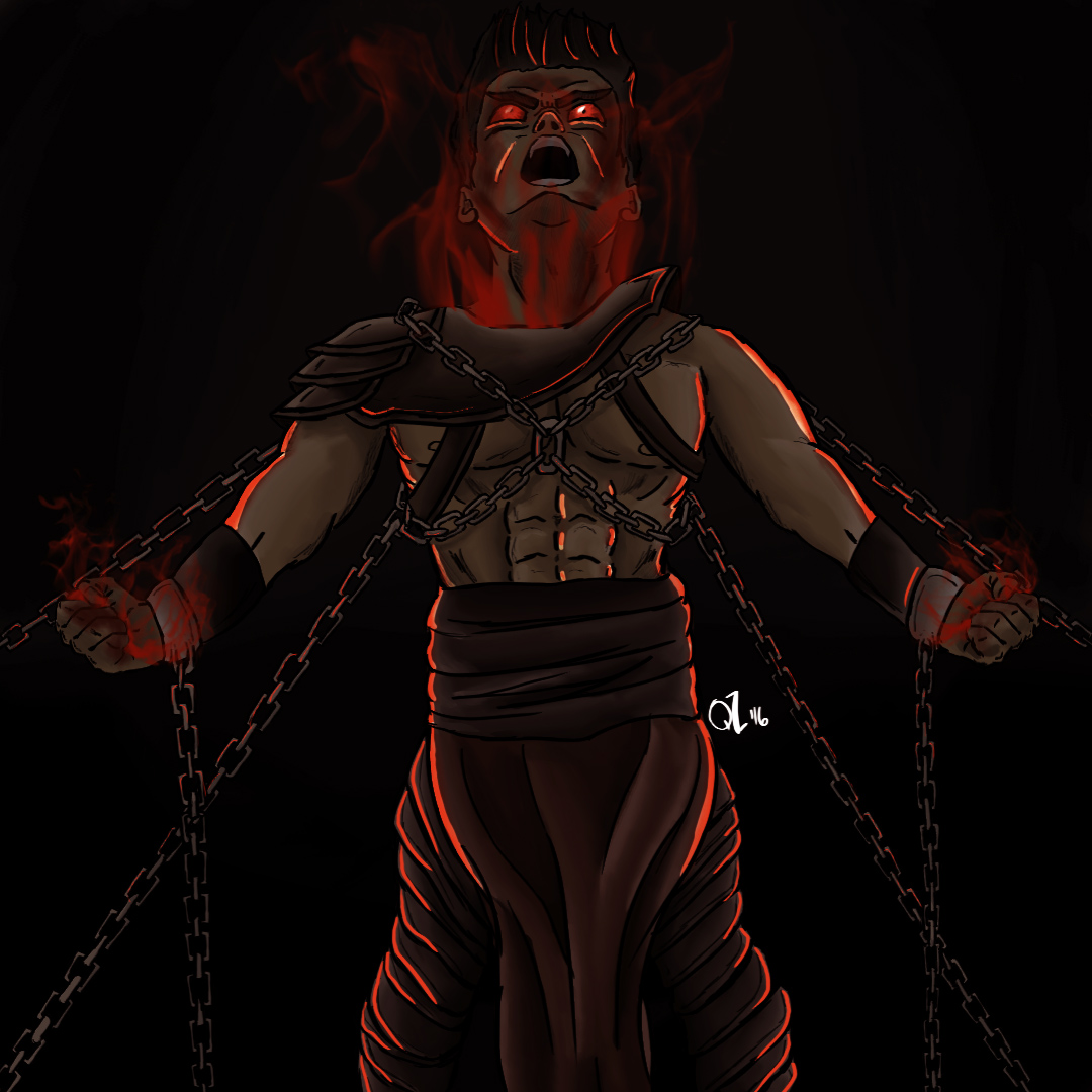 Chained Pyromancer