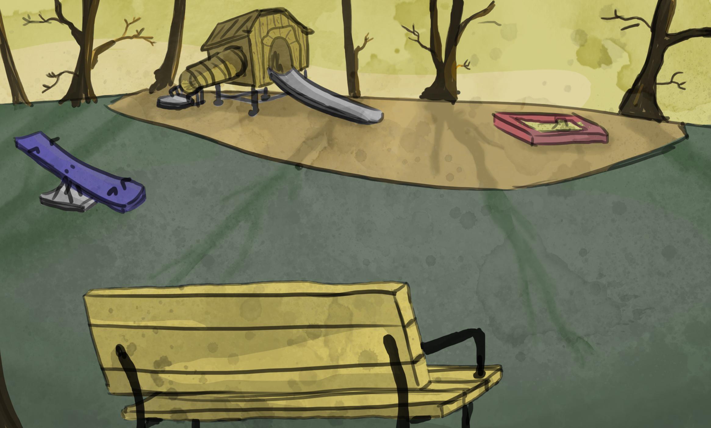 BACKGROUND ART Park Playground