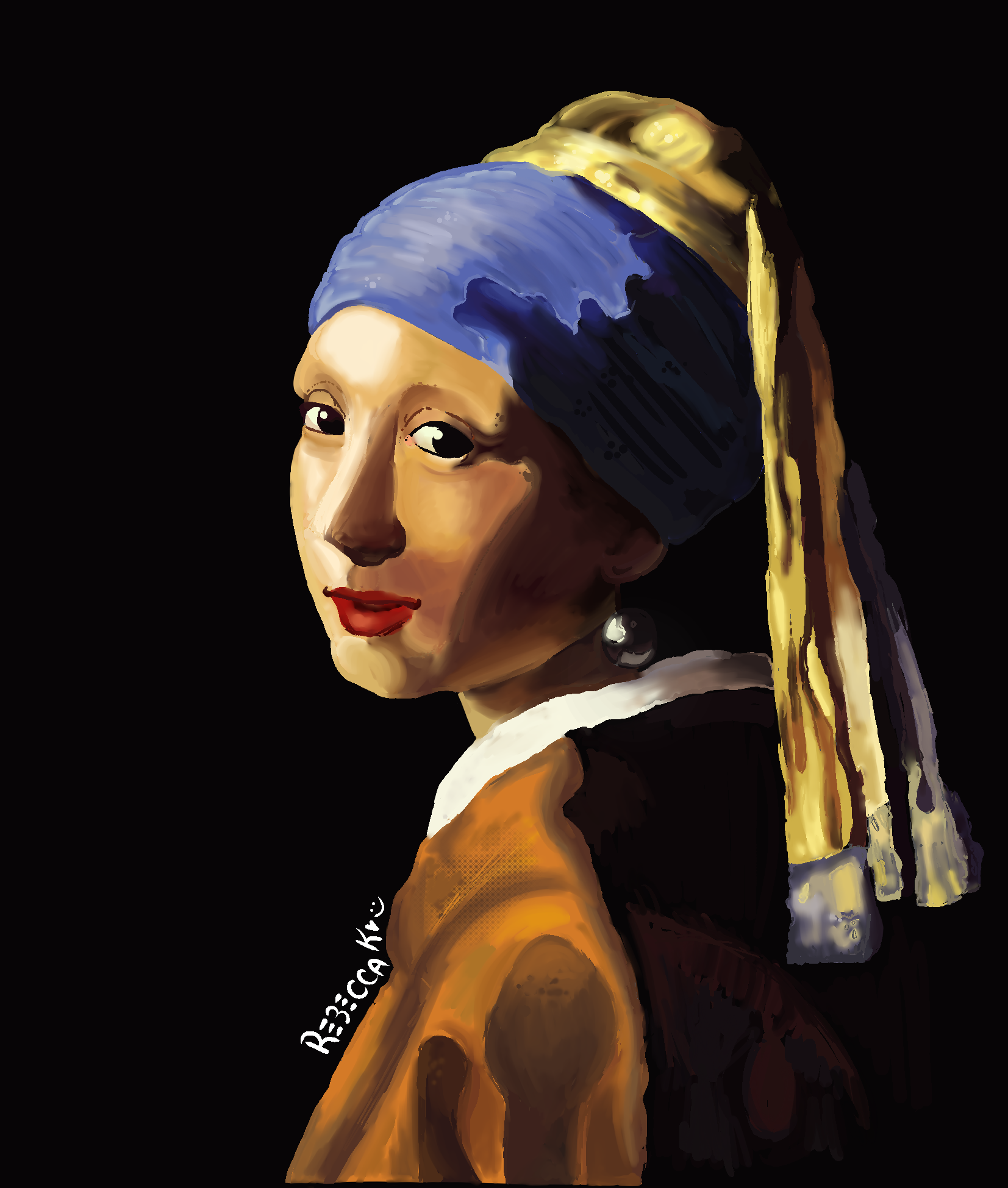 "ReCreation of ""The Girl with a Pearl Earring"""