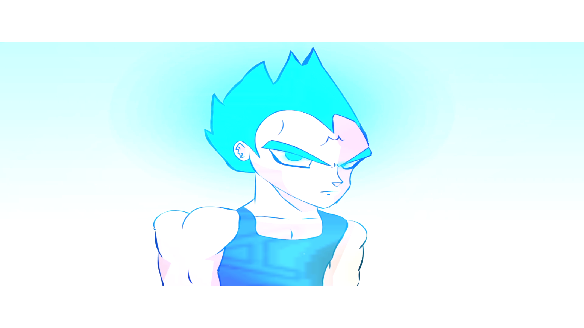 Super Sayian Blue Majin Vegeta