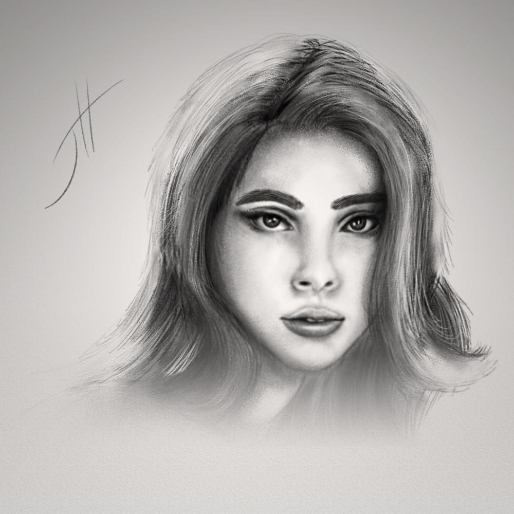 Scarlett Johansson Portrait