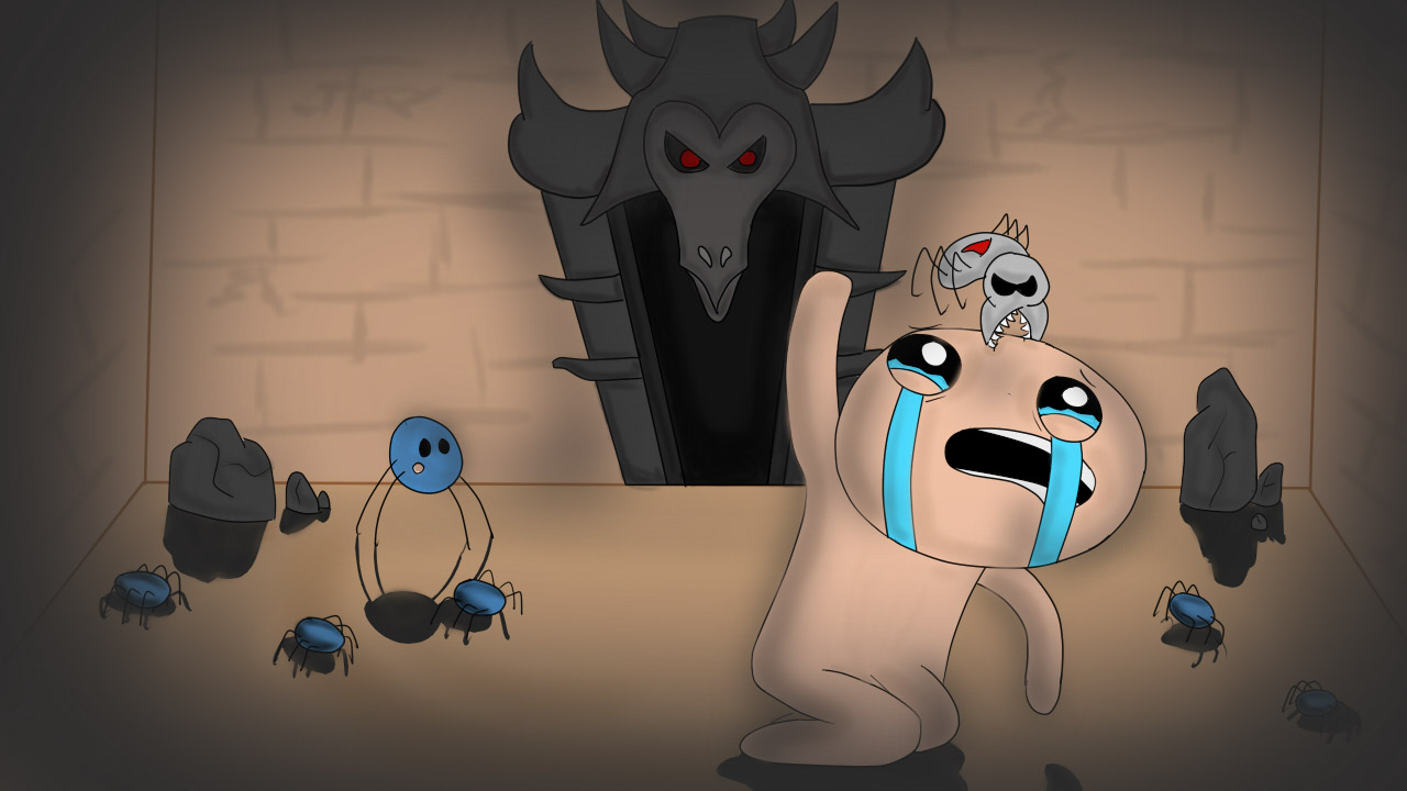 The Binding Of Isaac-spiders