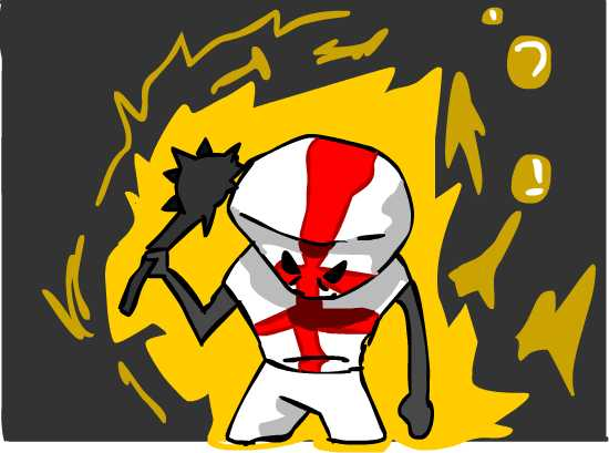 Red castle crasher drawing