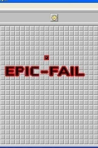Minesweeper: Epic Fail