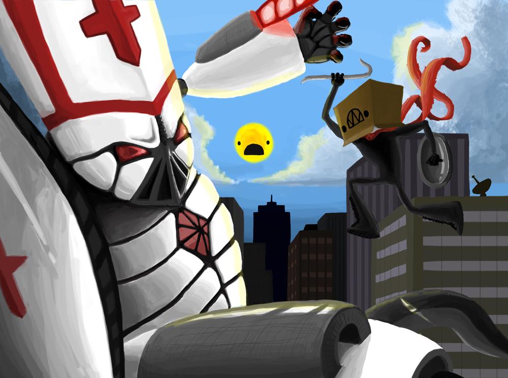 super villain vs popezord